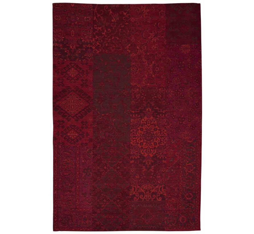Tapis vintage en patchwork rouge