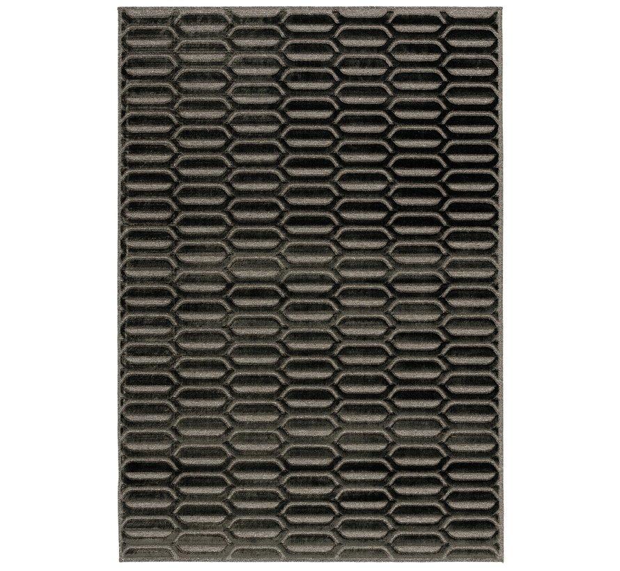 Modern tapijt antraciet en grijs