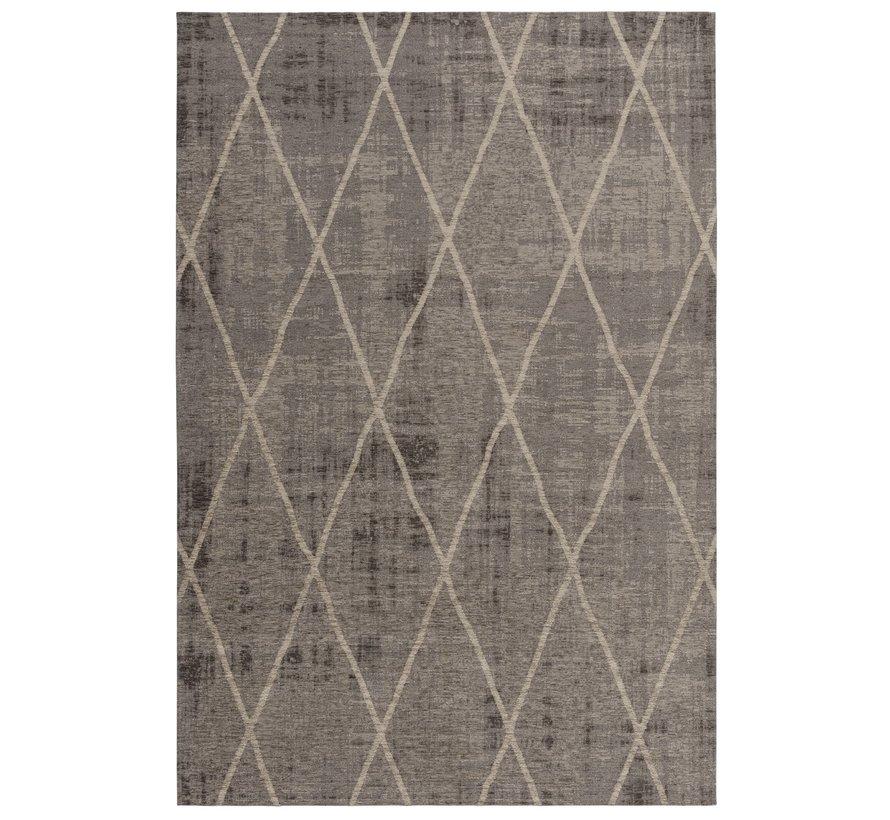 Laagpolig tapijt met ruitdessin bruin