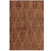 Laagpolig tapijt met ruitdessin cognac
