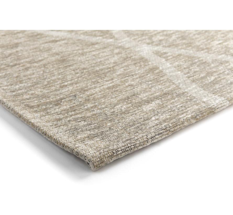 Laagpolig tapijt met ruitdessin crème