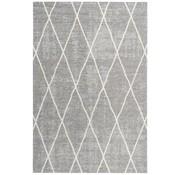 Laagpolig tapijt met ruitdessin zilver
