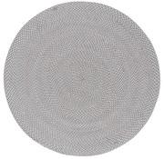 Rond tapijt beige, grijs, wit voor binnen en buiten, gerecycleerd
