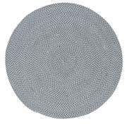 Tapis rond anthra, gris, blanc pour l'intérieur et l'extérieur, recyclé