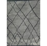 Zilvergrijs laagpolig tapijt