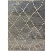 Laagpolig tapijt blauw/taupe