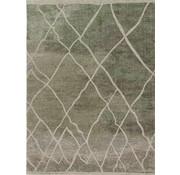 Laagpolig tapijt groen/taupe