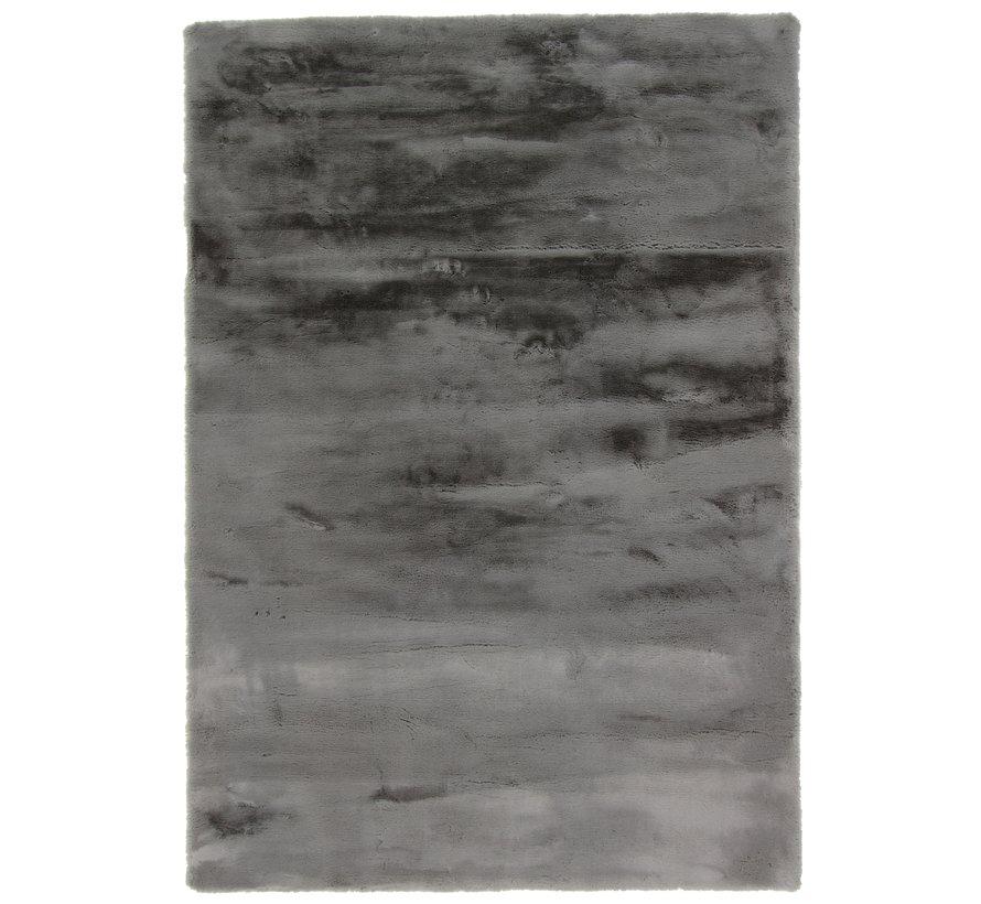 Fluweelzacht tapijt grijs