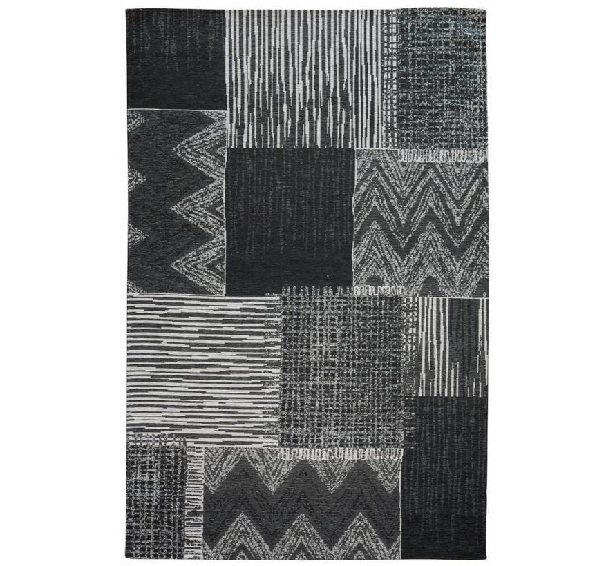 Vintage vloerkleed grijs en zwart