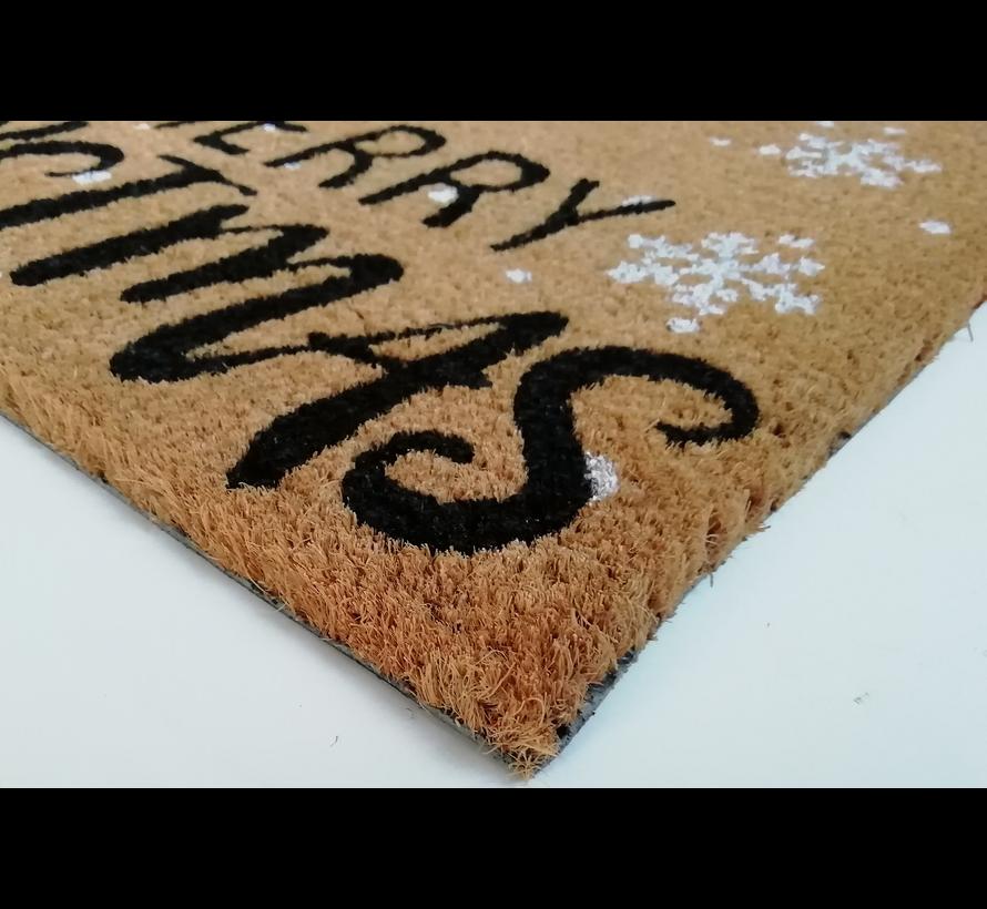 Kerstmat kokos met sneeuwman