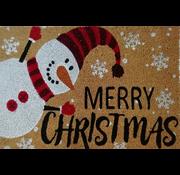 Tapis Noël coco imprimé avec bonhomme de neige