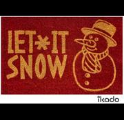 Tapis Noël coco rouge Let it snow