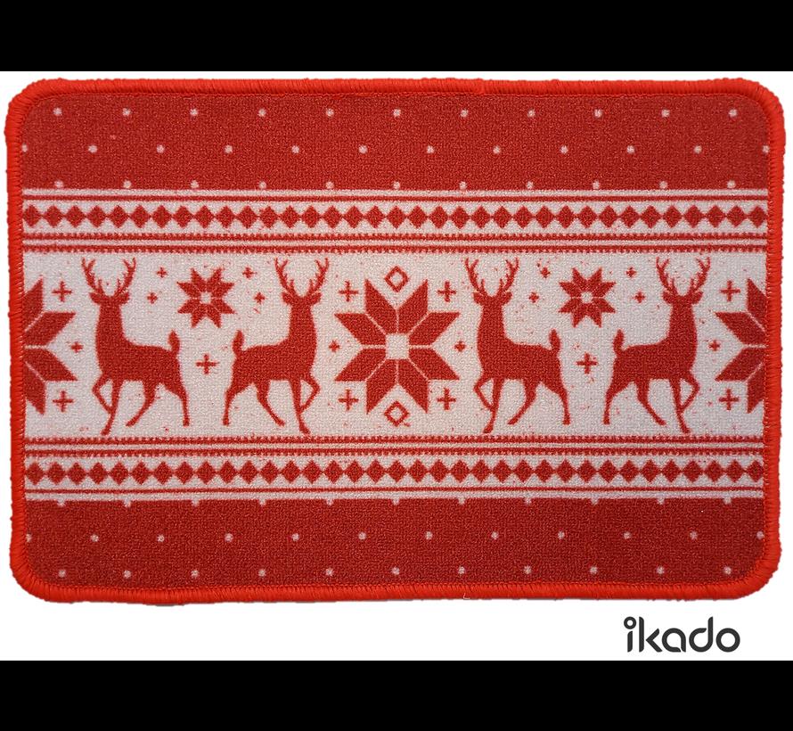 Tapis de Noël imprimé avec des figures rennes