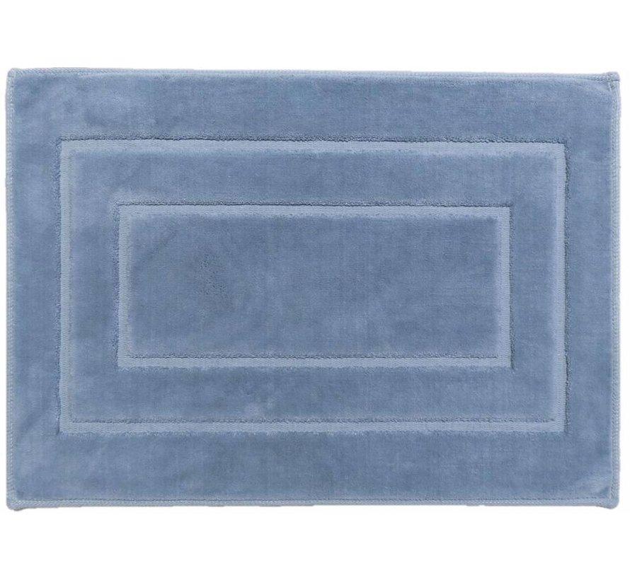 Tapis de bain en coton, bleu