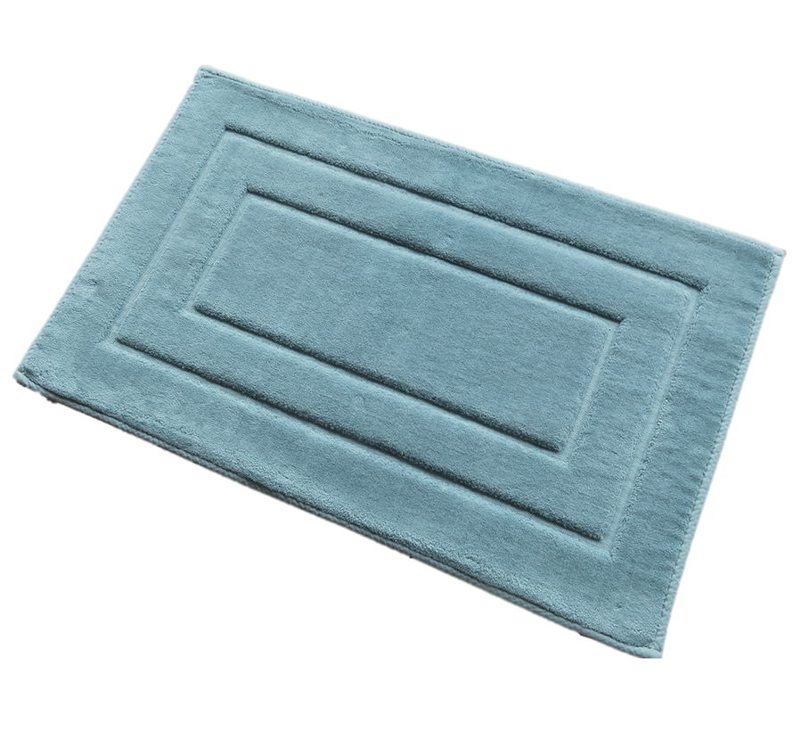 Badmat katoen blauw, antislip