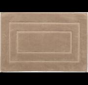 Tapis de bain antidérapant en coton, brun
