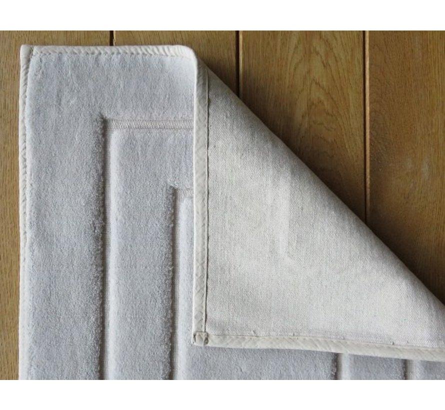Tapis de bain en coton, gris clair