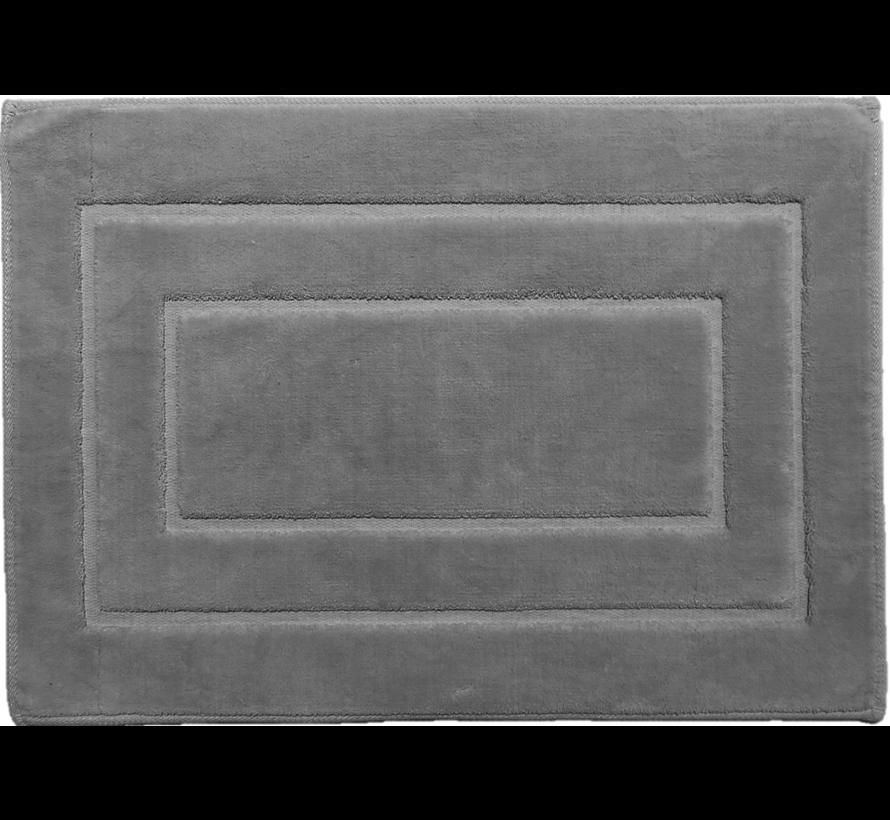 Tapis de bain antidérapant en coton, gris clair