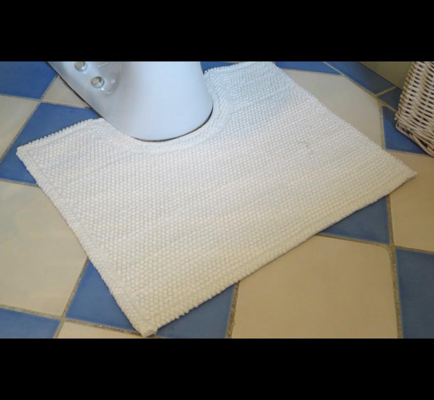 Contour pour toilette antidérapant, blanc