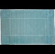 Tapis de bain coton antidérapant, bleu