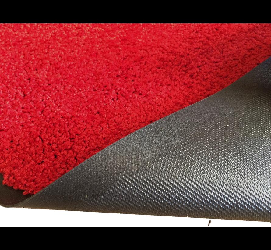Droogloopmat op maat rood 118cm ecologisch