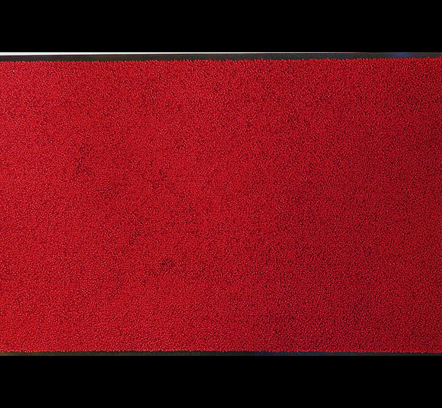 Tapis d'entrée écologique sur mesure rouge 118cm