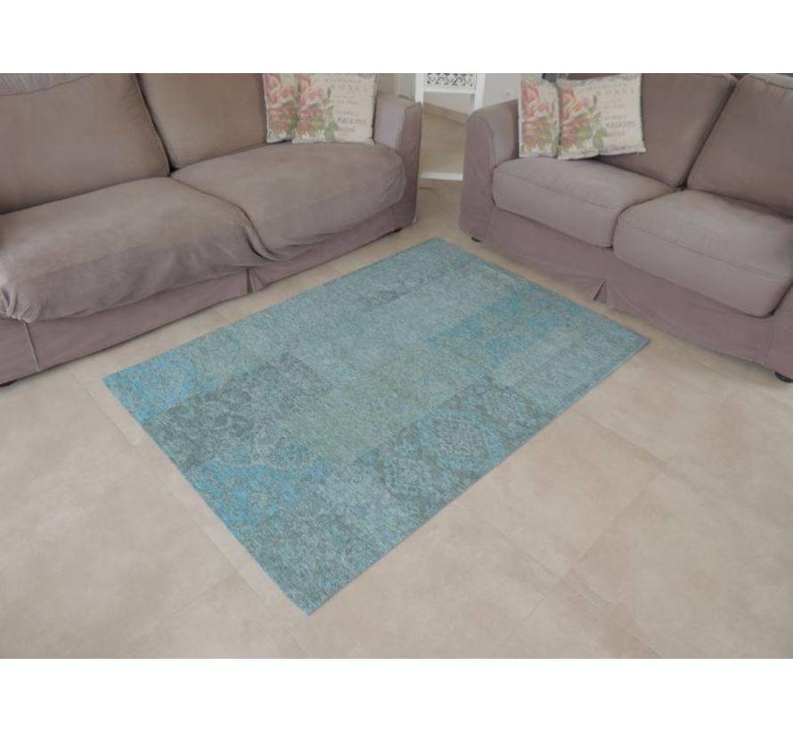 Vintage tapijt lichtblauw