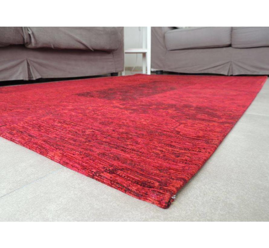 Vintage tapijt patchwork rood