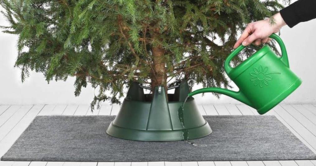 Een ideale mat voor kerstbomen met kerst
