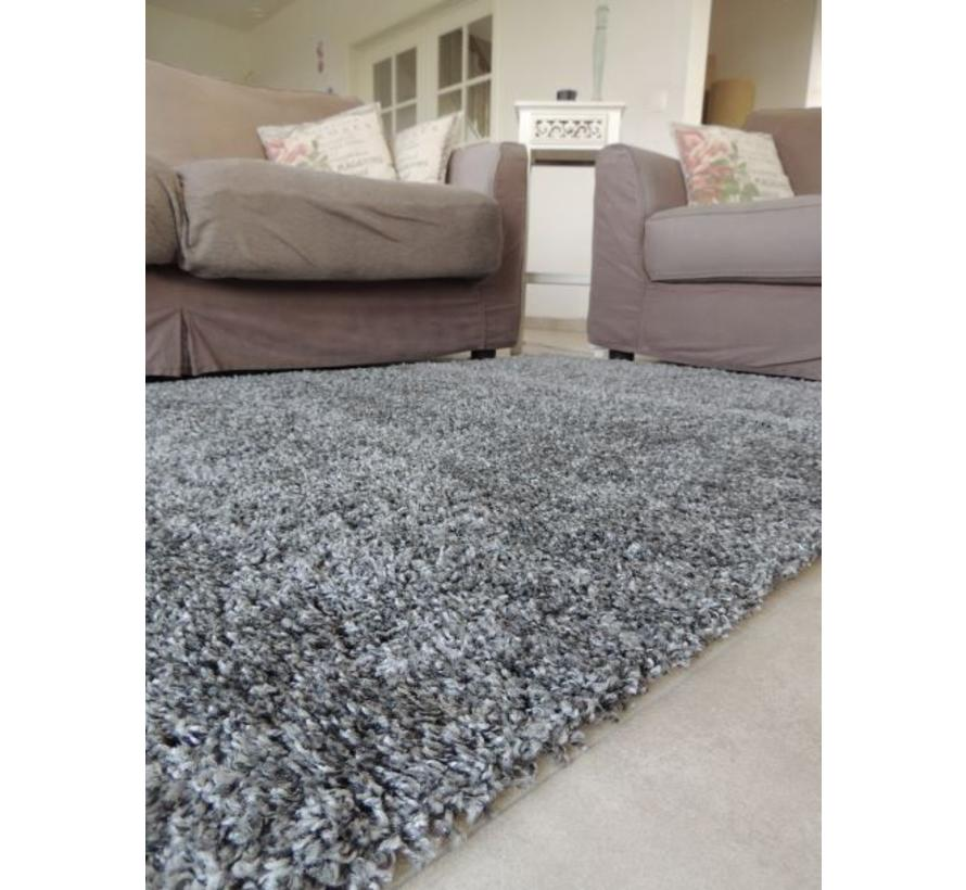 Hoogpolig tapijt grijs 30 mm