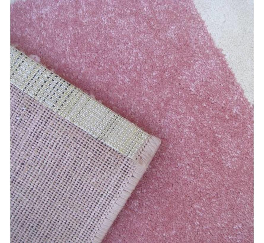 Kindertapijt roze met toverstaf