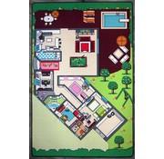 Speelmat huis groot