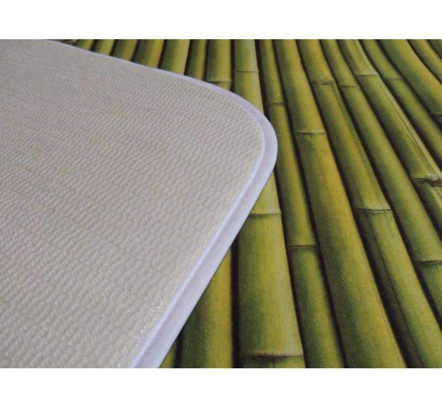 Badmat groen bamboe