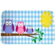 Kindertapijt met afbeelding uilen