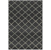 Tapis moderne sisal look noir/gris