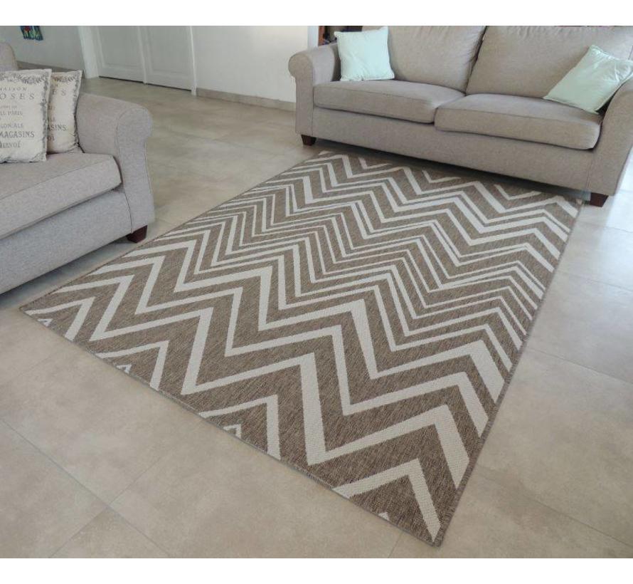 Modern tapijt sisal look bruin/beige