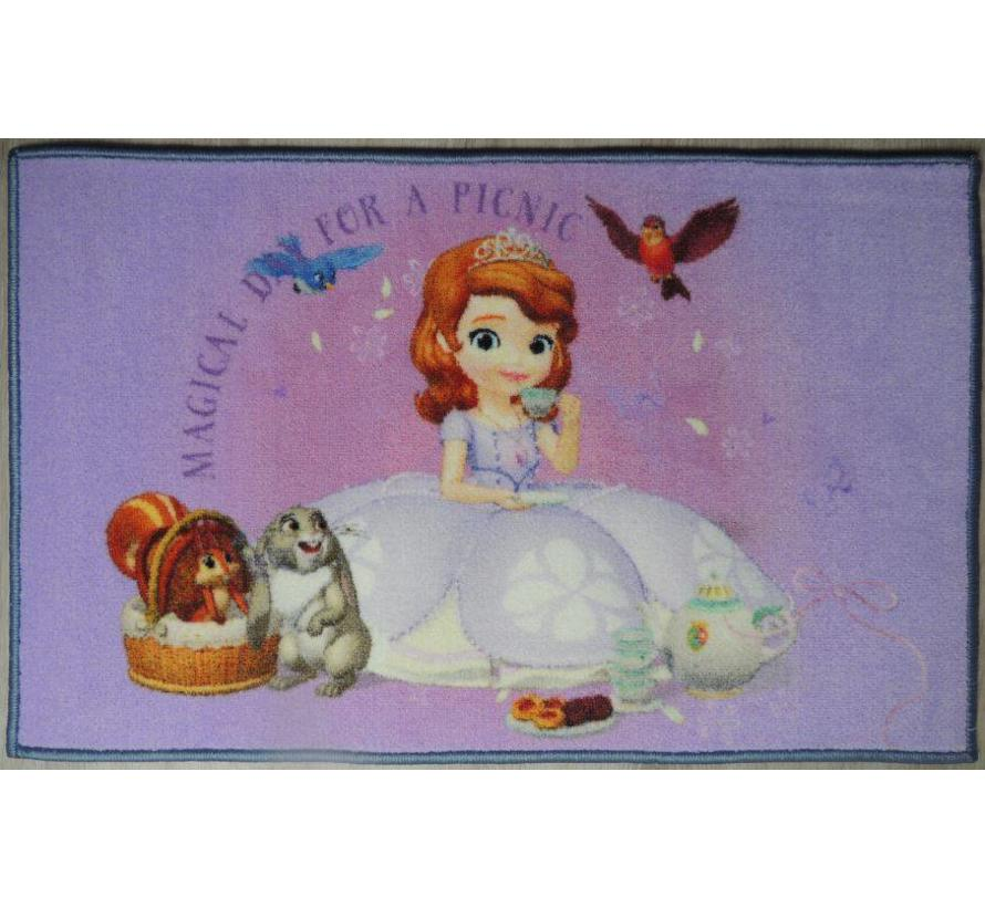 Tapis chambre enfant princess Sofia