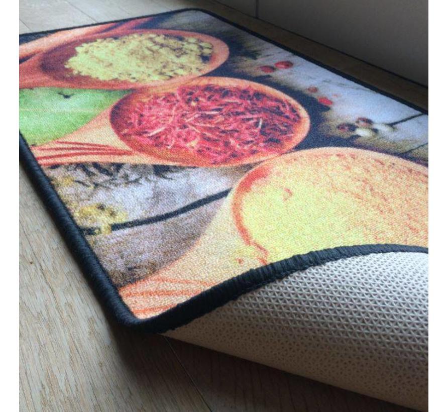 Tapis de cuisine imprimé, épices