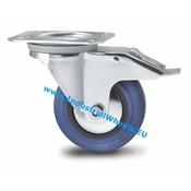 Swivel caster with brake, Ø 125mm, elastic-tyre, 150KG