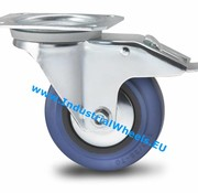 Zestaw obrotowy blokadą, Ø 125mm, elastycznej gumy, 150KG