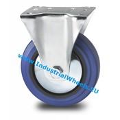 Fast hjul, Ø 125mm, Elastisk gummi, 150KG