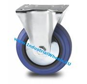 Roda fixa, Ø 125mm, goma vulcanizada, 150KG