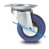 Swivel caster, Ø 125mm, elastic-tyre, 150KG