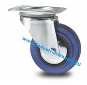 Ruota girevole, Ø 125mm, gomma elastica, 150KG
