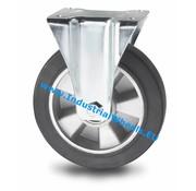 Fixed castor, Ø 200mm, elastic-tyre, 400KG