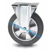 Fast hjul, Ø 160mm, Elastisk gummi, 300KG