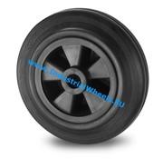 Wheel, Ø 125mm, rubber, black, 130KG
