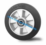 Hjul, Ø 250mm, Elastisk gummi, 500KG