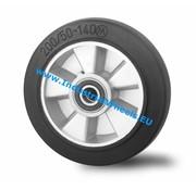 Wheel, Ø 250mm, elastic-tyre, 500KG