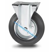 Roda fixa, Ø 125mm, goma negra, 100KG
